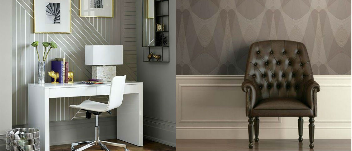 papel pintado decorativo metalizado habitacion